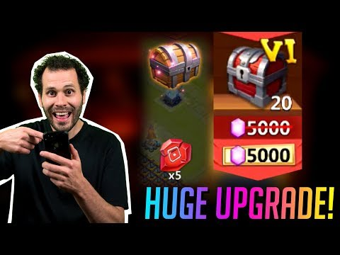 JT's F2P HUGE Upgrade 20 Big Boy Chests ONETIME Castle Clash