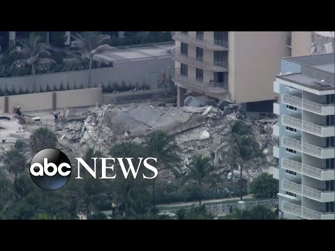 Officials give update on apartment building collapse in Miami