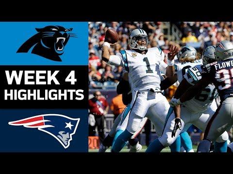 Panthers vs. Patriots | NFL Week 4 Game Highlights