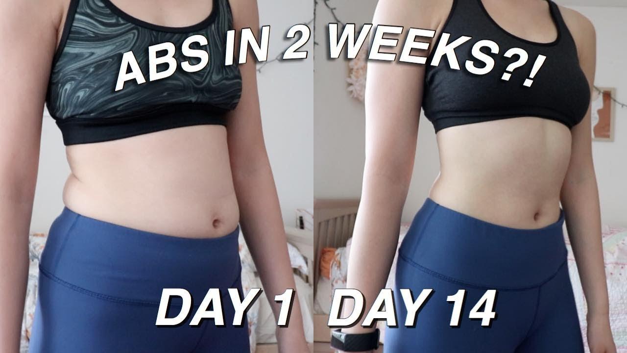 ABS IN 2 WEEKS?! 😵🔥 i tried chloe ting's 2 week shred ...