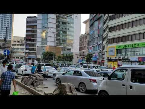 Dhaka city morning traffic @Gulshan 2