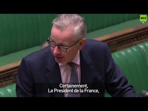 Michael Gove tries to speak French in House of Commons