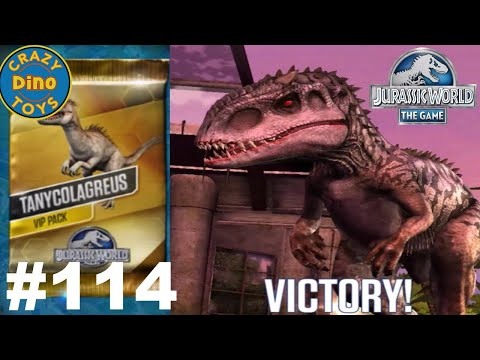 New  Jurassic World The Game  VIP Battles Episode 114 Tanycolagreus Vs Indominus Dinosaurs WD Toys