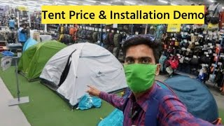 Camping & hiking tęnt 2020 | only 1750 price | live installation demo tent | decathlon ahmedabad
