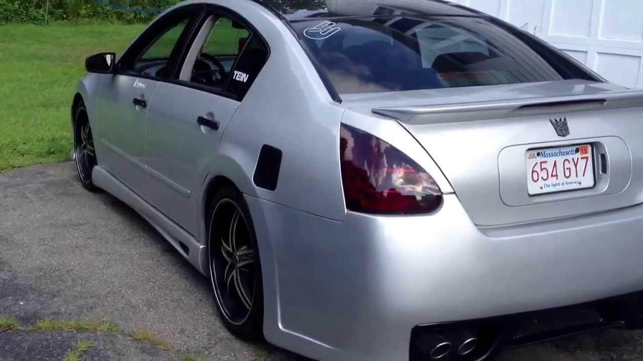 07 Nissan Maxima >> 07 maxima plasti dip/black - YouTube