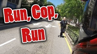MOTORCYCLE TAG! + COP CHASES MOTORCYCLE ON FOOT