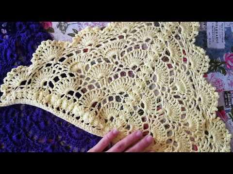 Видео вязание крючком косынки для девочек