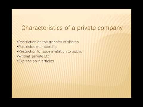 Company Law in hindi - what is private company lecture 8