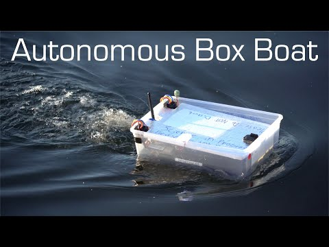 Autonomous Box Boat - Long Range Waypoint Mission - RCTESTFLIGHT