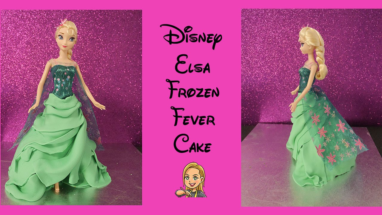 Cake Elsa Frozen Fever : Elsa Cake - Disney Frozen Fever - YouTube