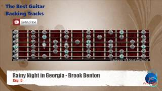 Rainy Night in Georgia - Brook Benton Guitar Backing Track with scale chart