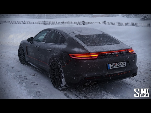 Playing on Snow in the New Porsche Panamera