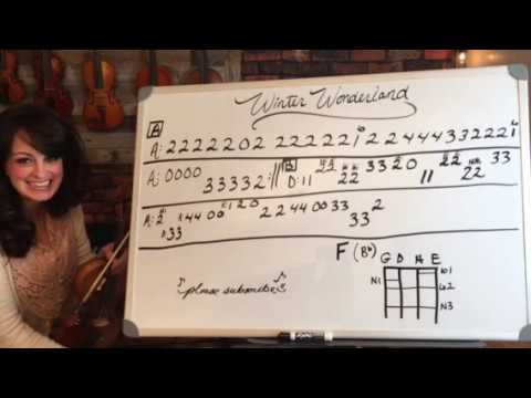 How to play Winter Wonderland on the violin🎶🎻