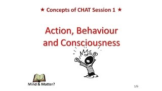 Lecture 1. Action, behaviour and consciousness in Cultural Psychology & Activity Theory