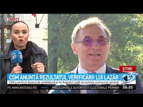 CSM anunță rezultatul verificării lui Augustin Lazăr