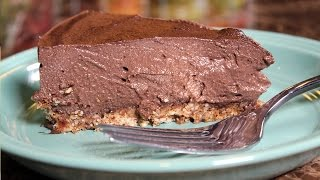 Best Plant Based Vegan Refined Sugar Free Chocolate Cheesecake:  Whole Food Plant Based Recipe