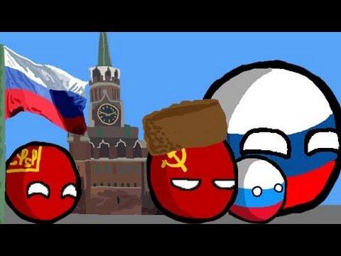 Polandball modern history of Russia - YouTube