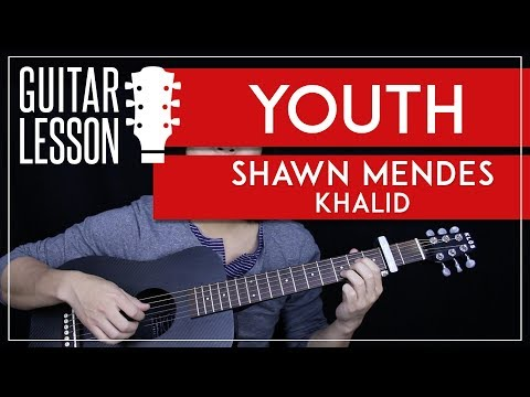 Youth Guitar Tutorial - Shawn Mendes Guitar Lesson🎸|Easy Fingerpicking + Tabs + Chords + Cover|