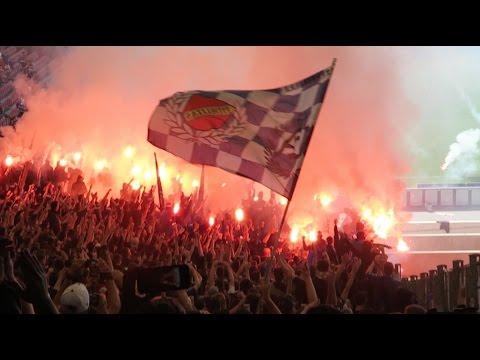 GERMAN SOCCER FANS BURN THE STADIUM!!