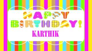 Karthik Wishes & Mensajes - Happy Birthday