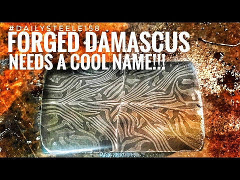 FORGING SOME NEW DAMASCUS STEEL: Help me Name This Pattern!!?!?