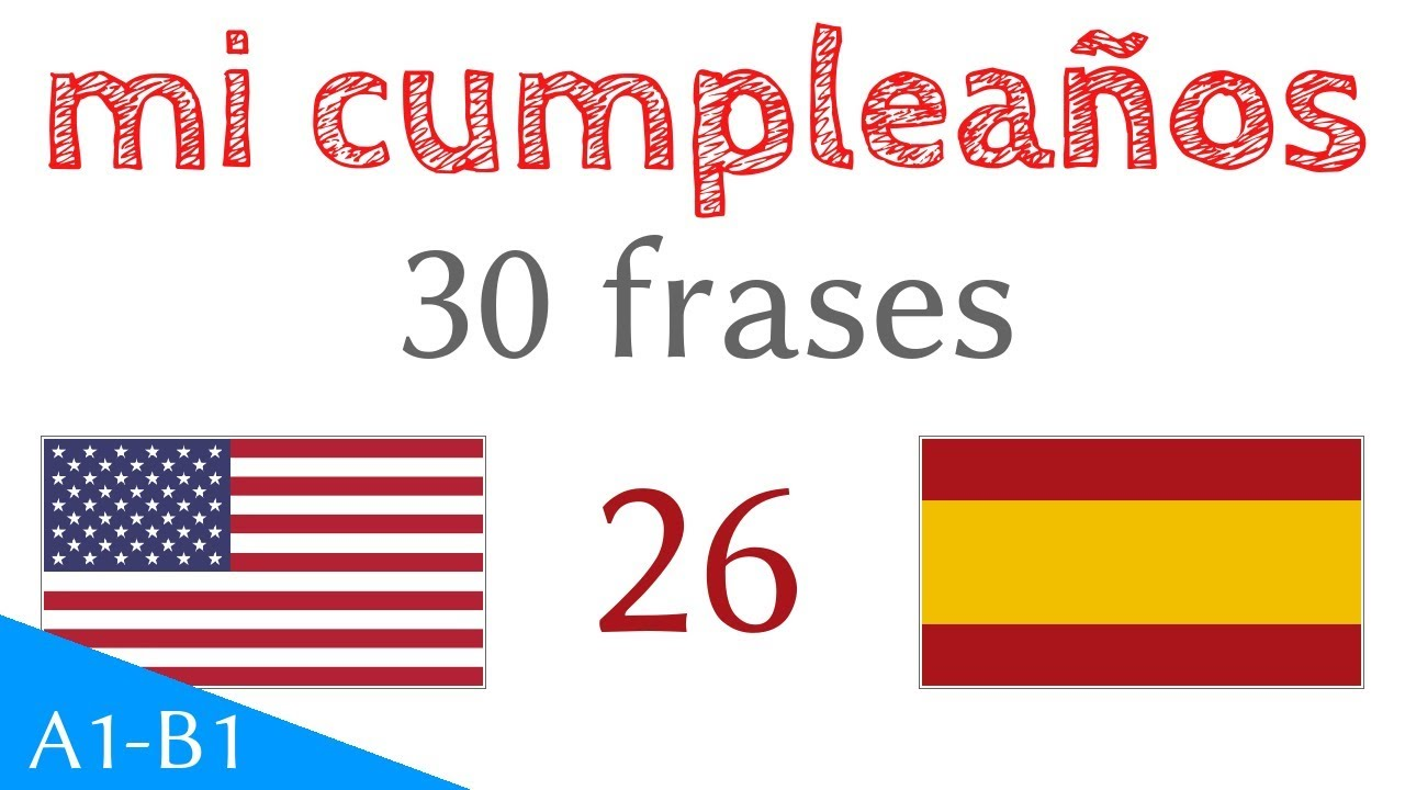 Mi Cumpleaños Frases Inglés Español S 26