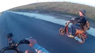 Стантовая покатушка с Димоном   Scooter stunt
