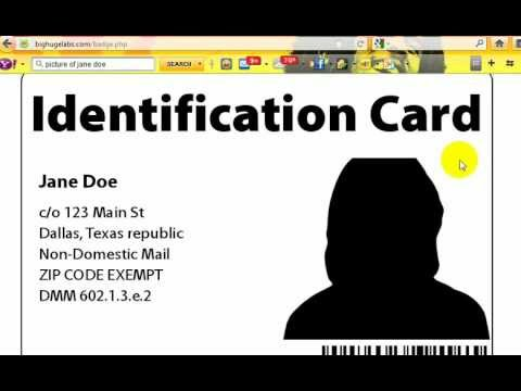 Creating your own lawful private identification.
