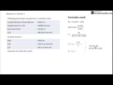 Draught Calculations - YouTube