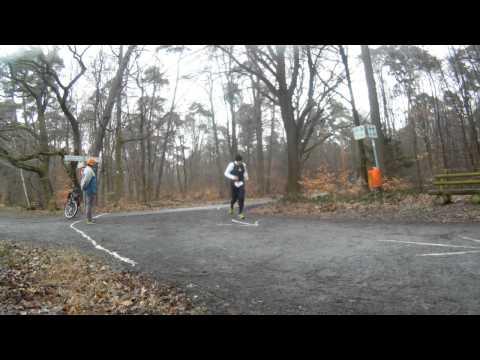 Durchlauf bei km 5,2; Winterlaufserie Rodgau Jügesheim Februar 2014
