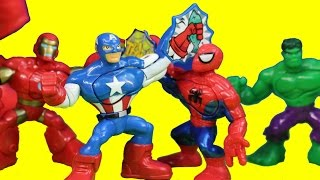 Marvel Playskool Superhero Adventures Captain America Incredible Hulk Spider-man Masters Kapow