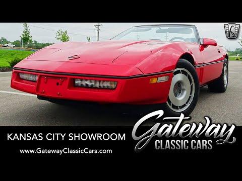 1987 Chevrolet Corvette Convertible - Gateway Classic Cars - Kansas City #00270