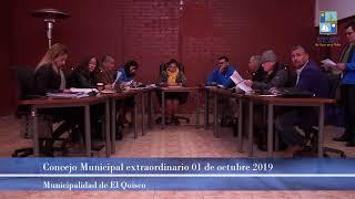 Concejo Municipal extraordinario 01 de octubre 2019