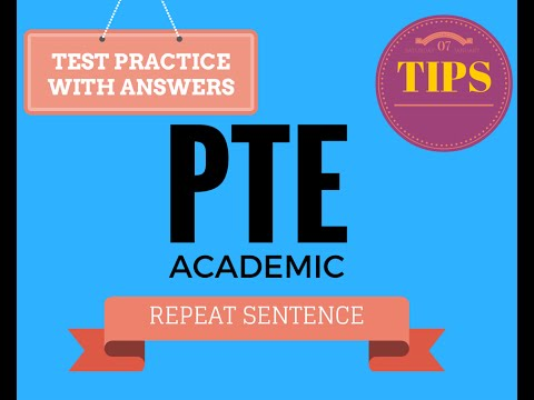 pte academic test practice and tips - repeat sentence