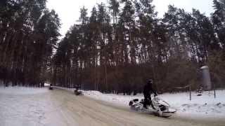 Инструктор Иволин обучение езде на снегоходе в горах Бундокинг  3гр., Summit, Polaris, Arctic Cat(13-14 февраля 2015 года Клуб