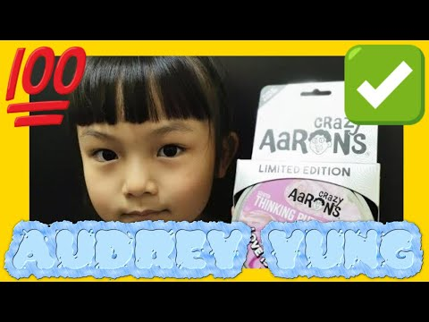 Crazy Aaron's Thinking Putty Limited Edition Love is in the air unpack with Audrey Yung (02232)