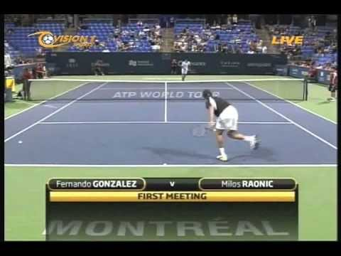 Milos Raonic's 1st ATP match vs. Fernando Gonzalez