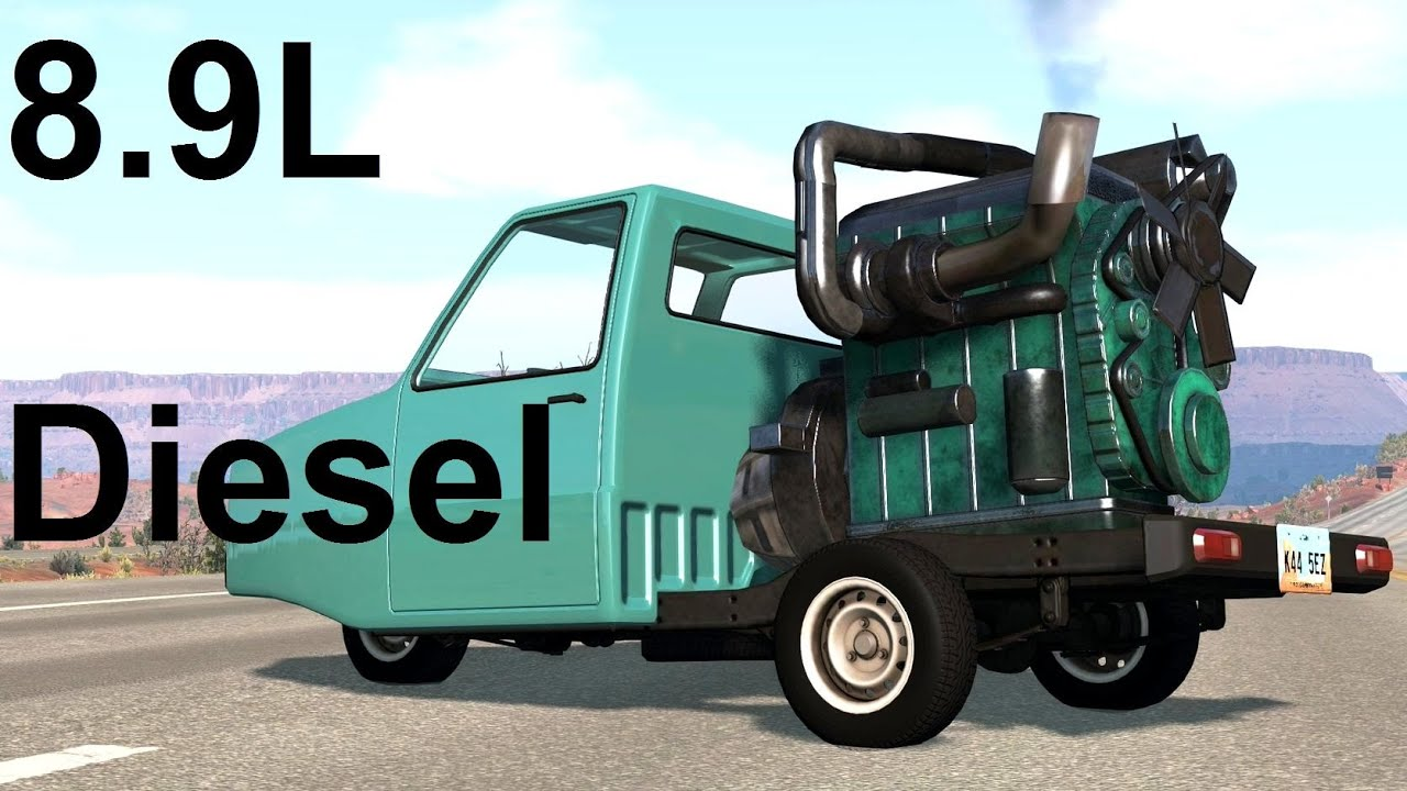 Bus Engine In A Pigeon! BeamNG. Drive