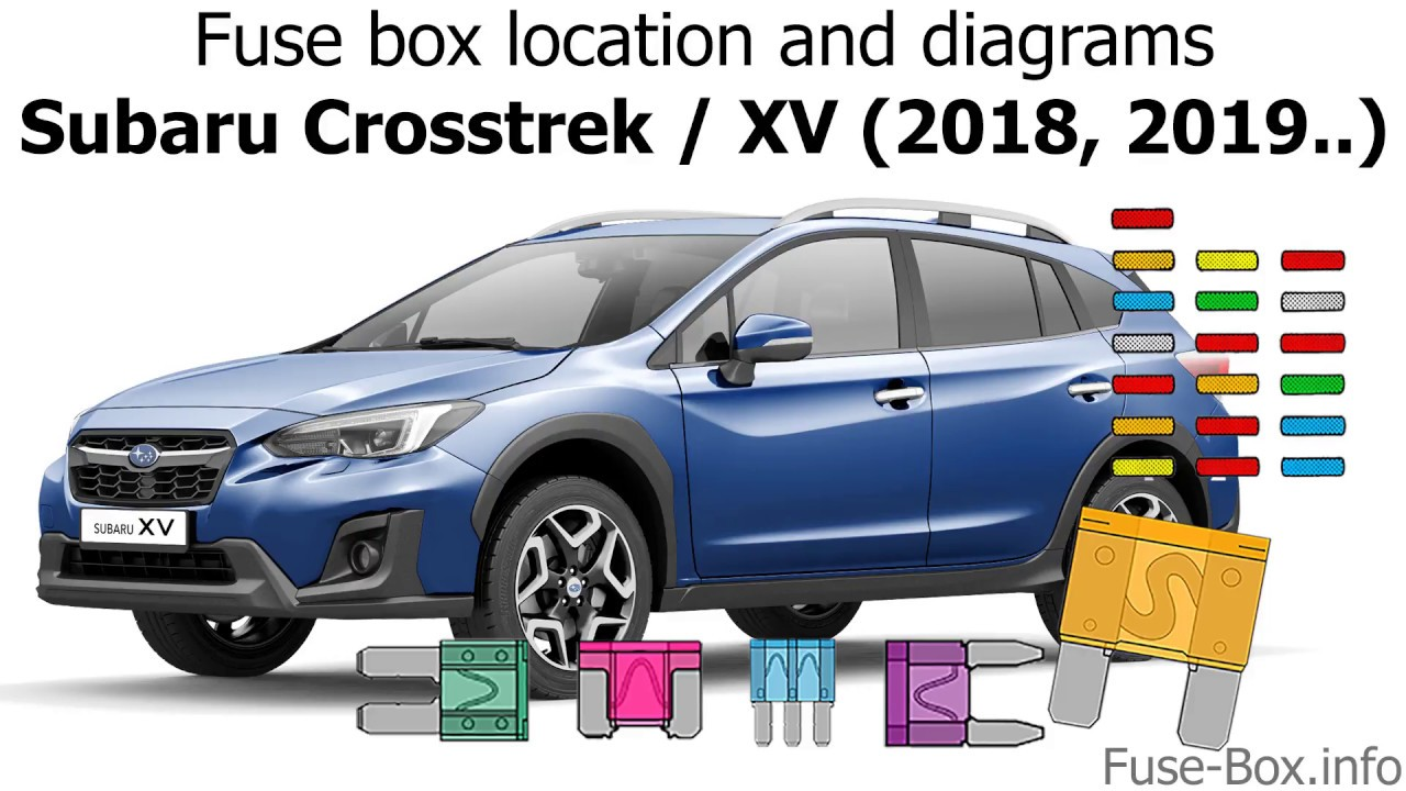 fuse box location and diagrams: subaru crosstrek / xv (2018-2019…)