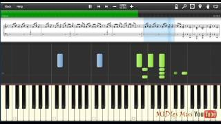 The Cat Empire The Lost Song Piano Cover [Synthesia Piano Tutorial]