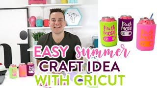 EASY SUMMER CRAFT IDEA WITH CRICUT!