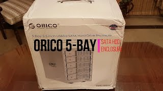 ORICO 5 Bay Enclosure Unboxing - 40 TB of Storage!