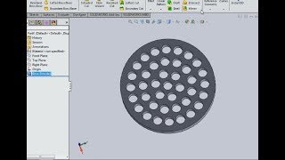 HOW TO MAKE CIRCULAR PATTERN HOLES IN SOLIDWORKS 2019 tutorial