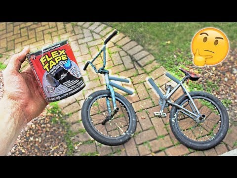 FLEX TAPING a BMX BIKE that's in HALF! ( Will it hold? )