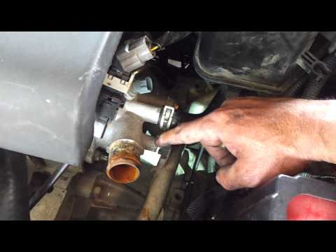 Maxresdefault also Maxresdefault in addition Install New Thermostat likewise Maxresdefault also Ac Schematic. on nissan altima thermostat location