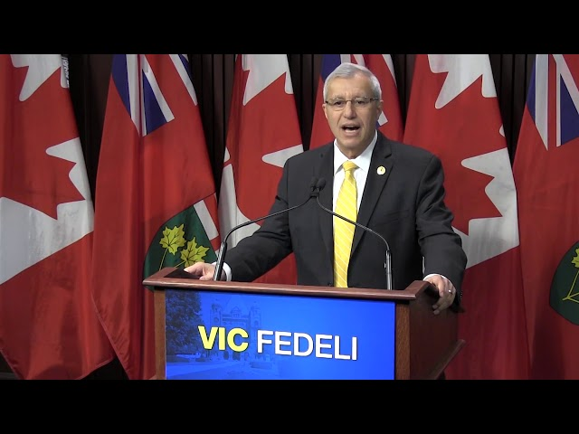 "A day after Patrick Brown bowed out of the Ontario PC leadership race, the party's interim leader says the former leader is still out of the caucus. Vic Fedeli says the PCs are ""stronger"" despite turmoil following Brown's resignation. (The Canadian Press)"