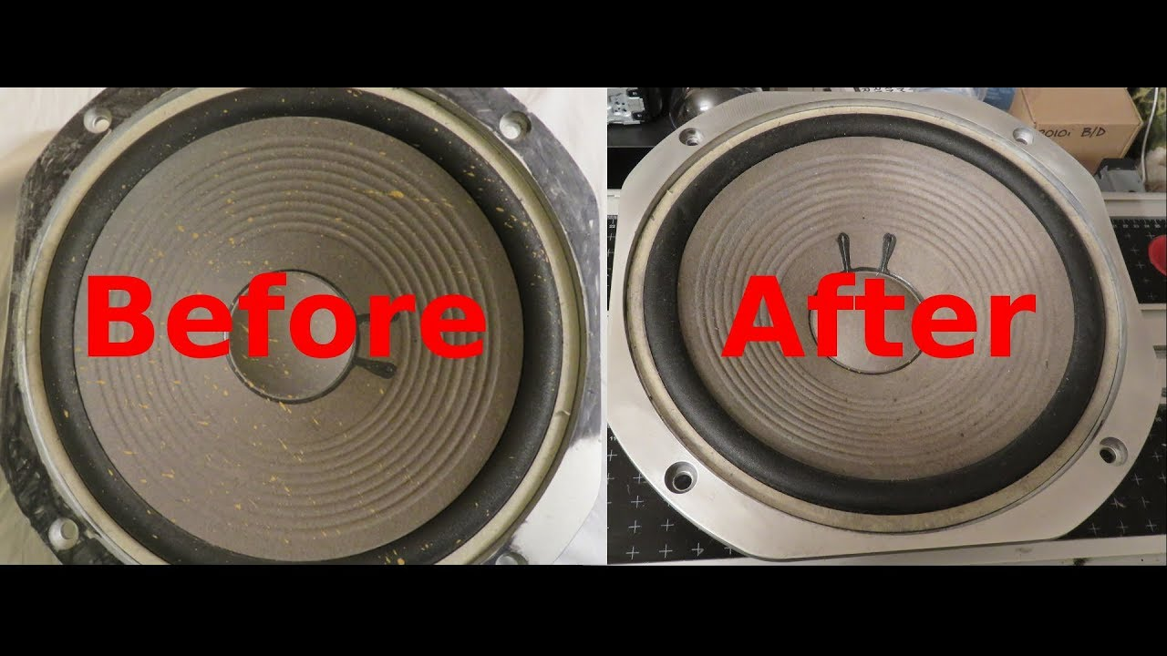How To Clean Dirty/Stained Speaker Drivers