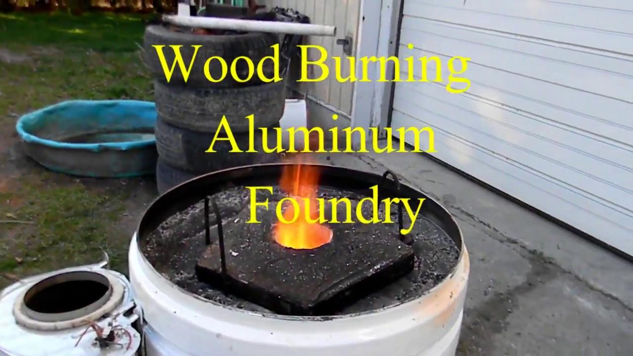 Wood Burning Aluminum Foundry - Wood Burning Aluminum Foundry - YouTube