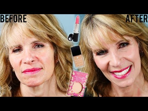 Minimize Fine Lines and Large Pores with Natural Clean Makeup Demo for Older Women