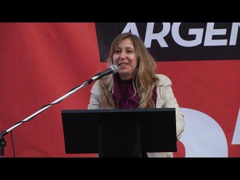Myriam Bregman, discurso en acto contra el golpe en Brasil y el ajuste de Macri